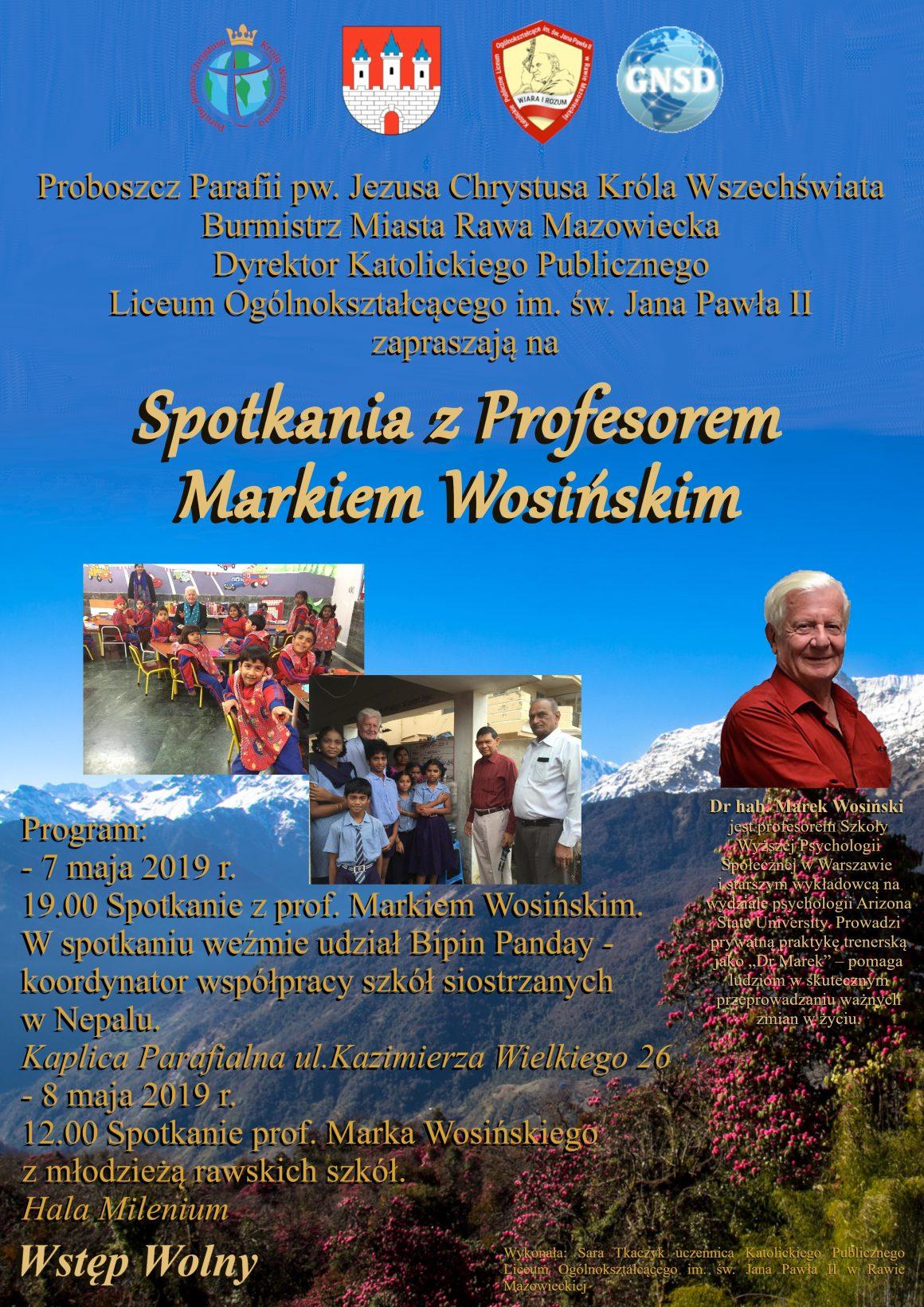 Spotkanie zprofesorem Markiem Wosińskim
